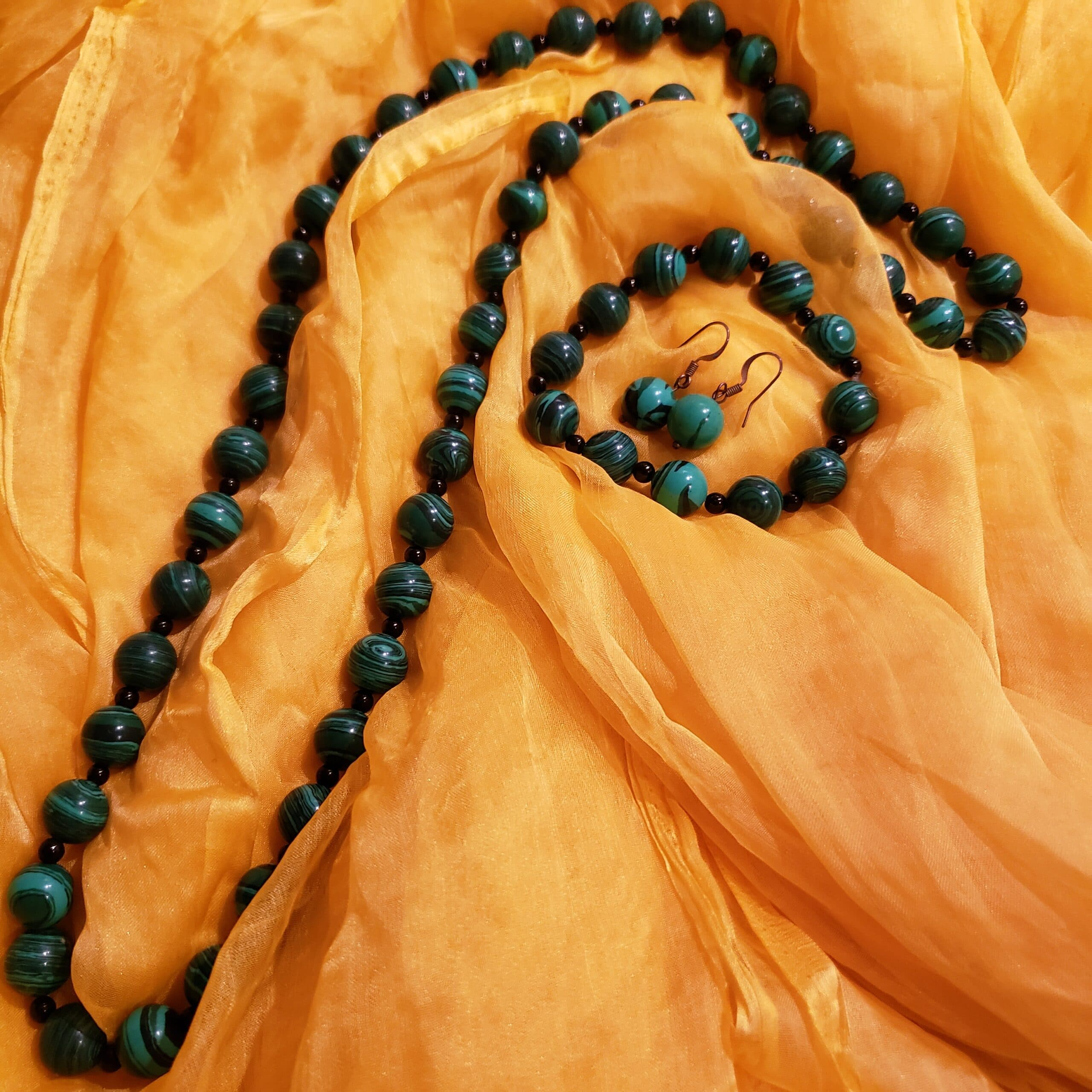malachite jewellery