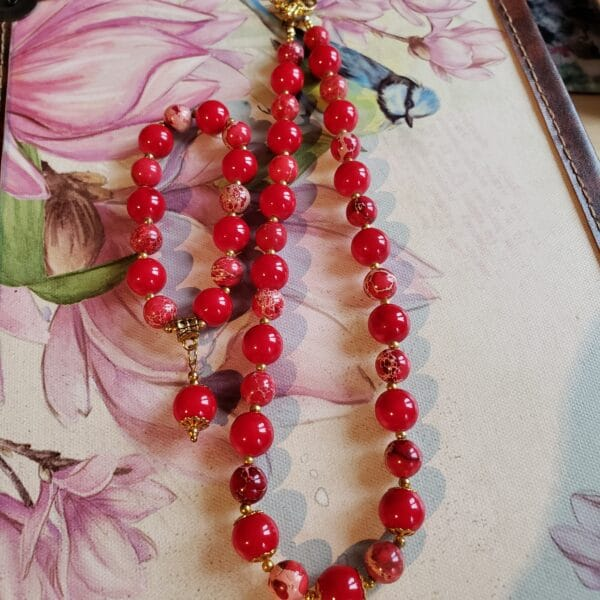 Coral and Red jasper