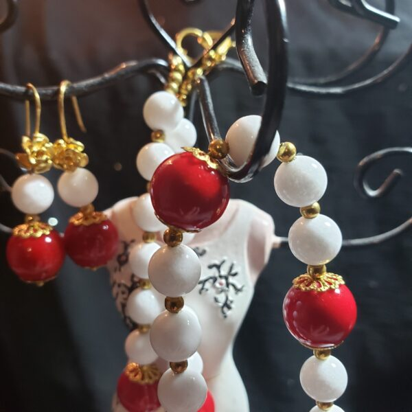 coral and white jade
