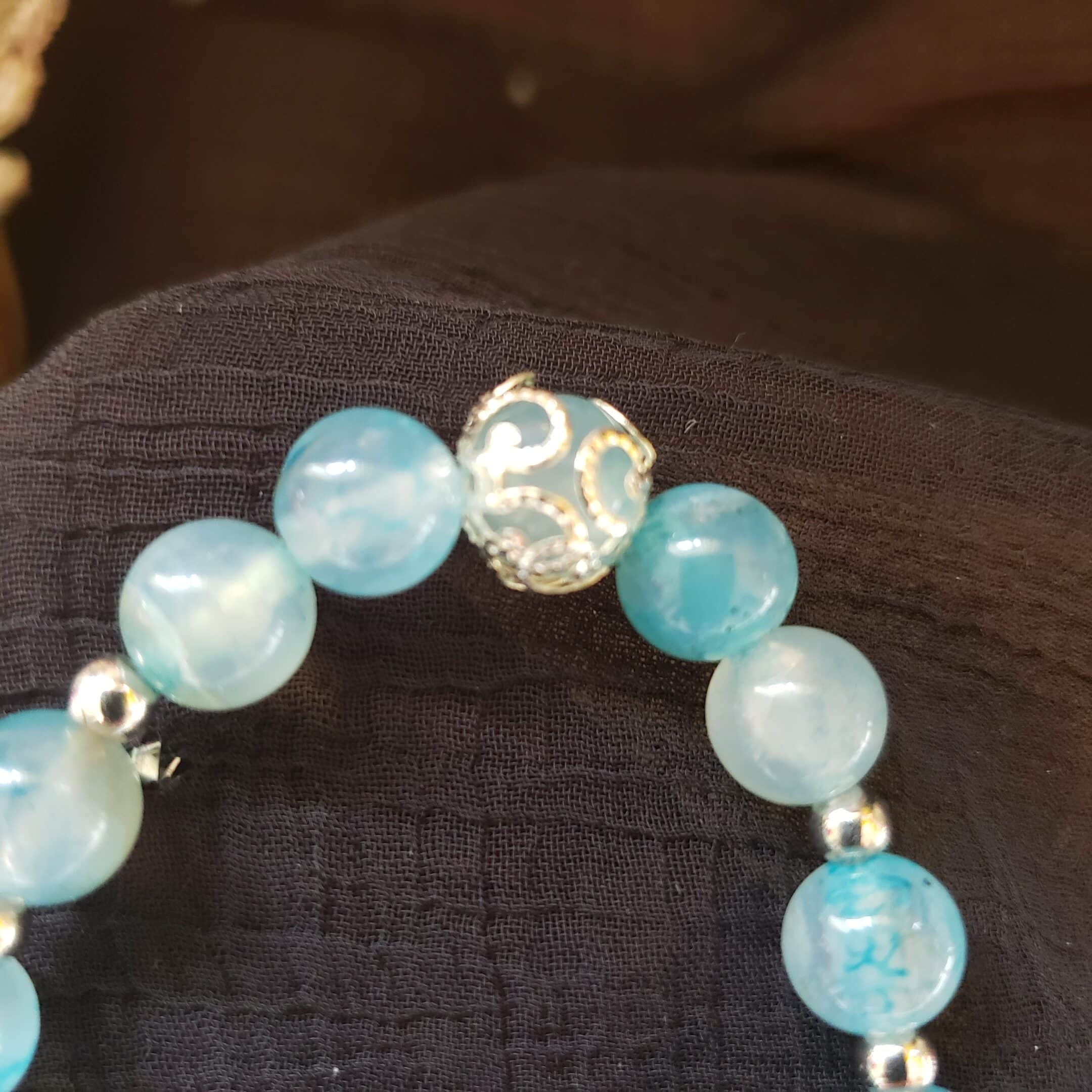 Blue vein agate jewelry