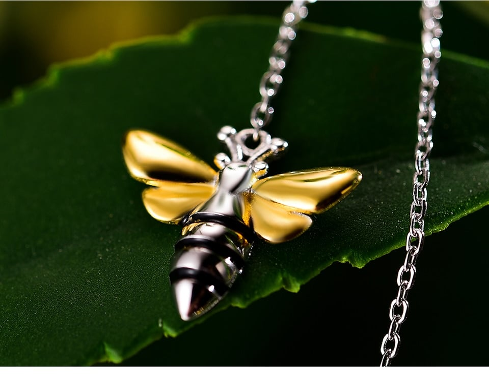 Lotus Fun Lovely Honey Bee Dangle Earrings Real 925 Sterling Silver Handmade Designer Fine Jewelry Earrings For Women Bijoux