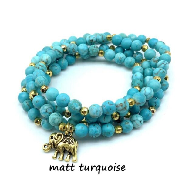 Natural Stone Mala Yoga Bracelet Or Necklace