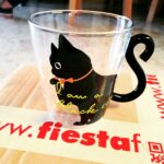 Glass Cat Cup