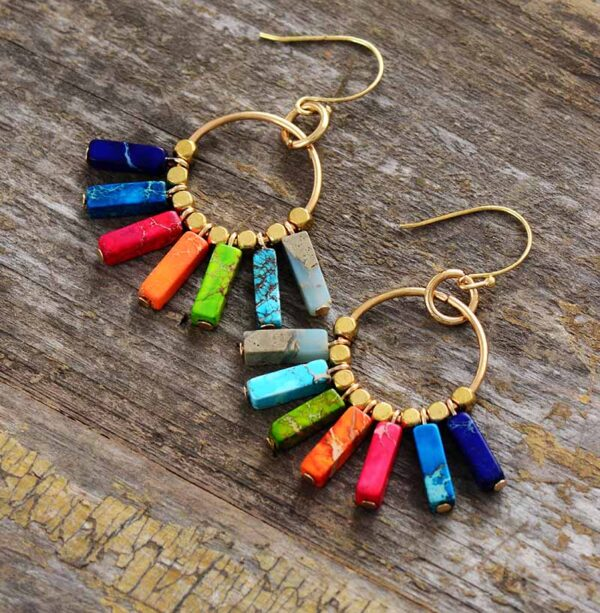 Chakra Earrings Natural Stones