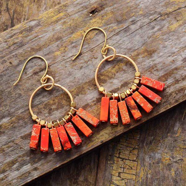 chakra earrings natural stones
