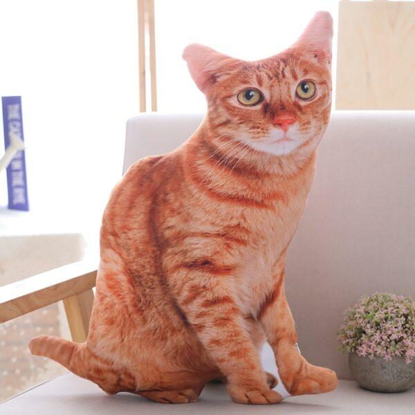 lifelike cat pillow