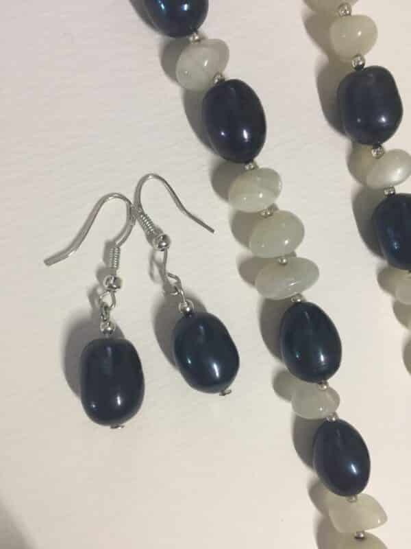 baroque pearl and moonstone set